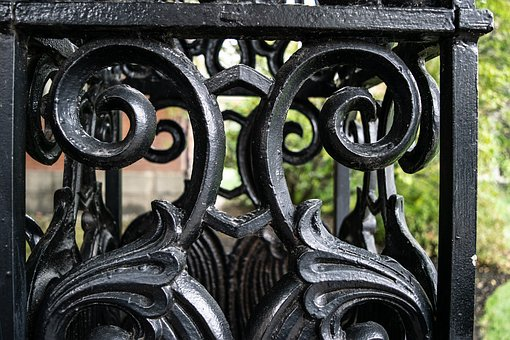 Iron, Fence, Metal, Old, Black