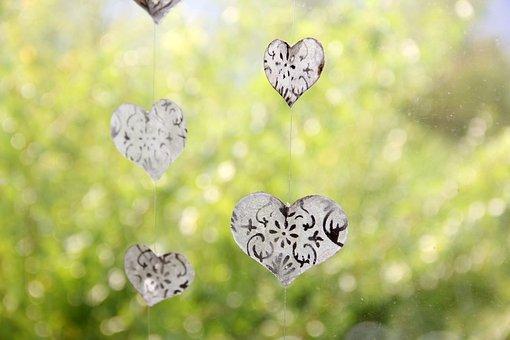 Heart, Deco, Glass, Window, Love, Friendship