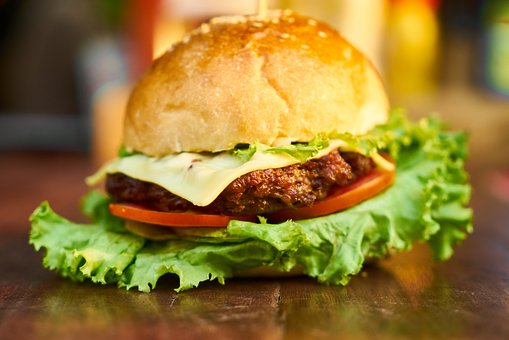 Burger, Meat, Bread, Lettuce, Food, Cheeseburger, Grill