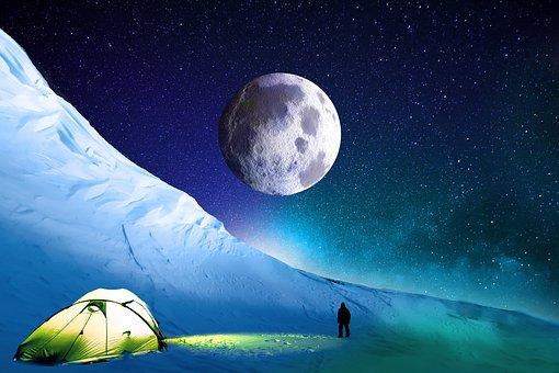 Snow, Mountain, Summit, Winter, Himalaya, Cold, Night