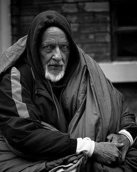 People, Man, Street, Homeless, B W, Cold, Sleeping Bag