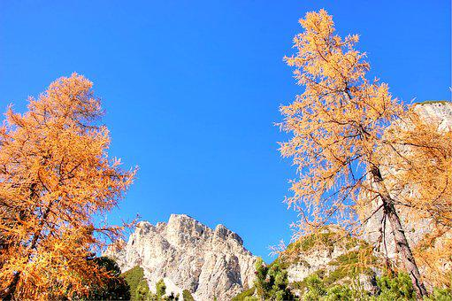 Autumn, Dolomites, Landscape, Nature, Italy, Mountains