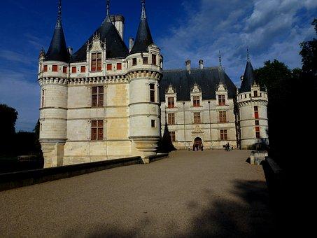 Castle, Azay Curtain, Architecture, France, Loire