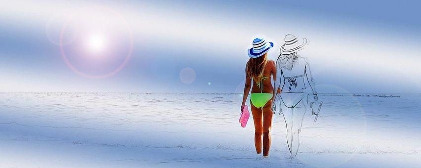 Pair, Women, Love, Romantic, Together, Romance