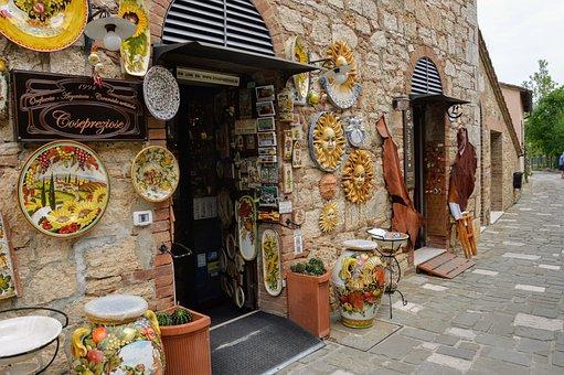 Tuscany, Pottery, Mosaic, Light, Colors, Ceramics, Art