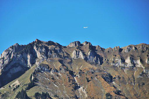 The Plane, Mountains, Rocks, The Height Of The, Above