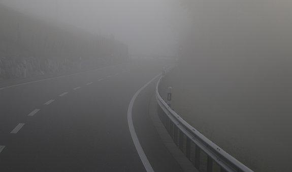 The Fog, Dawn, Highway, Nature, Unknown, Shoulder