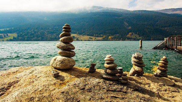 Reschensee, Stone Constructions, Rest, Relaxation