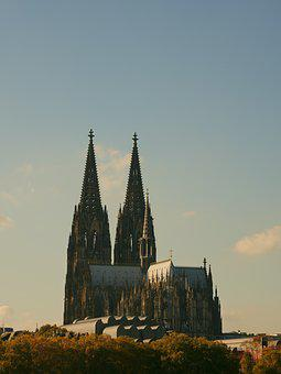 Cologne, Dom, City, Rhine, Germany, Architecture
