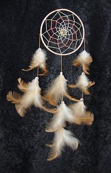 Dream Catcher, Feather, Spring Jewelry, Dream
