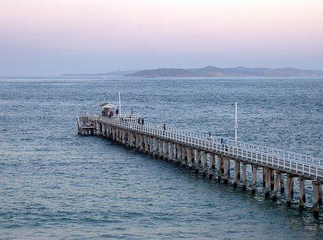 Sunset, Pier, Sea, Jetty, Dusk, Sky, Coast, Nature