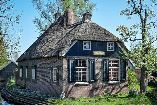 Traditional House, Thatched Roof, Architecture, Cottage