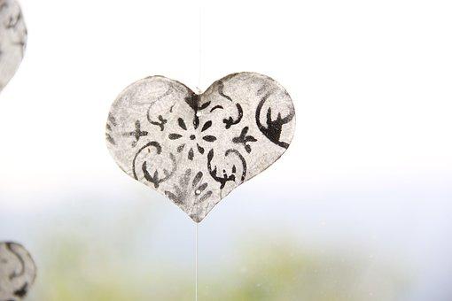 Heart, Transparent, Glass, Deco, Decoration, Surface