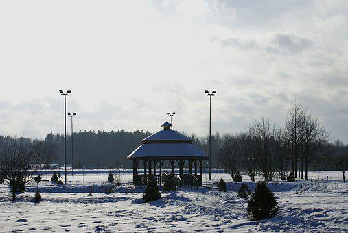 Bower, Winter, Holiday, Snow, Landscape, Cold, View