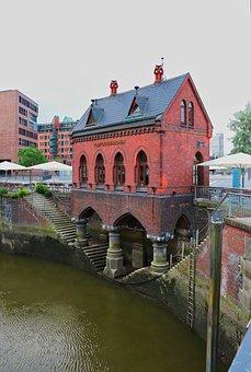 Fleet, Hamburg, Architecture, Building, Water