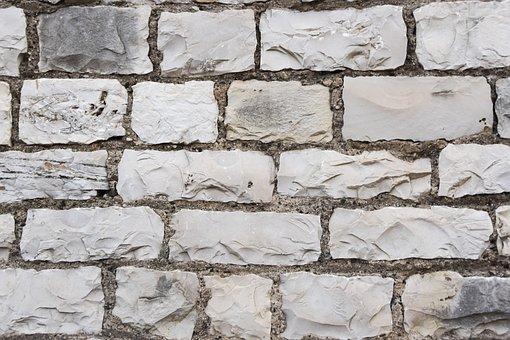 Brick, Wall, White, Texture, Background, Old, Brickwork
