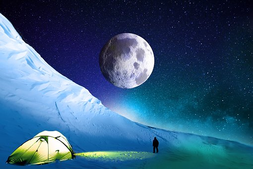Snow, Mountain, Summit, Winter, Himalaya, Cold, Night
