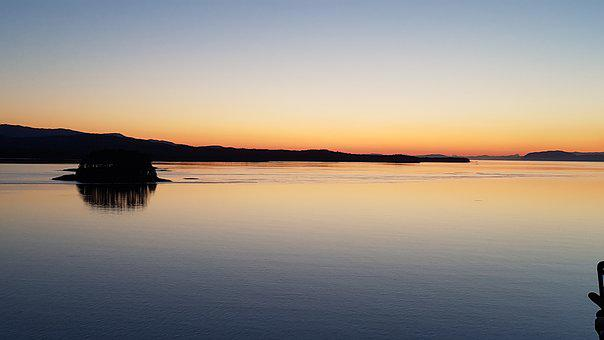 Alaskan Sunset, Cruise, Sea