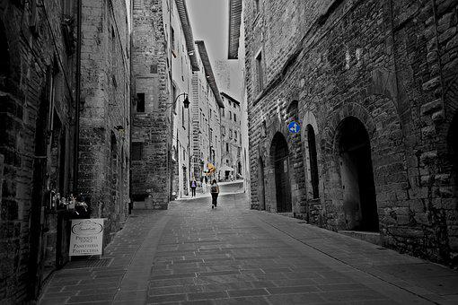 Umbria, Italy, Alley, Architecture, Building
