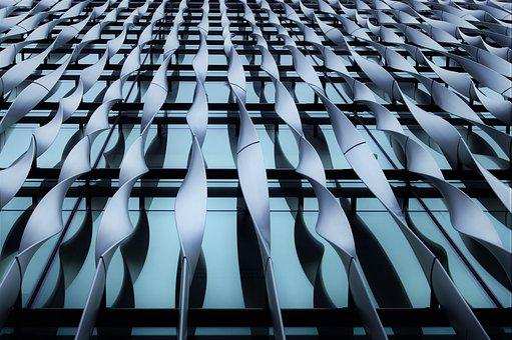 Twisted, Metal, Window, Glass, Building, Modern, City