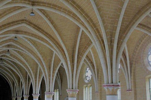 Ceiling, Church, Architecture, Religion, Window, Chapel
