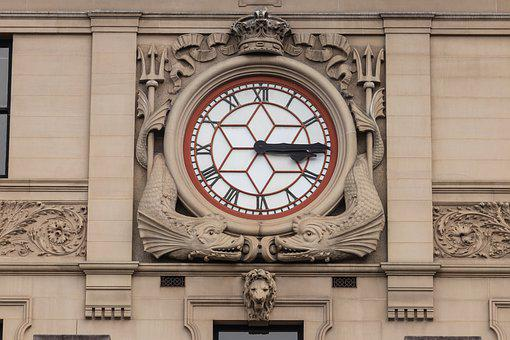 Clock, Clock Face, Building, Old-fashioned, Mason