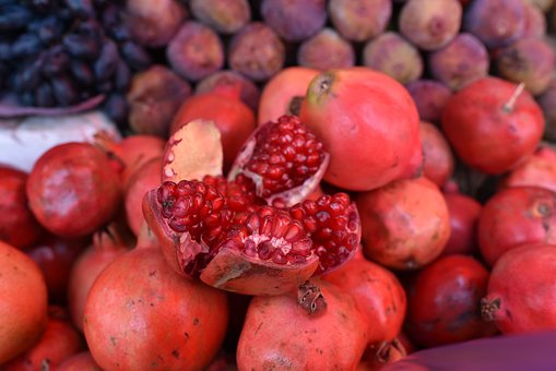 Pomegranate, Fruit, Red, Food, Pomegranates, Fresh