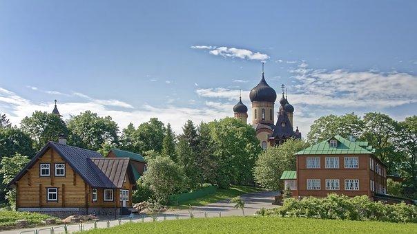 Estonia, Kuremäe, Nuns Monastery Pühtitsa, Monastery