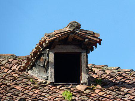 Little Window, Roof, Old, Architecture, Window