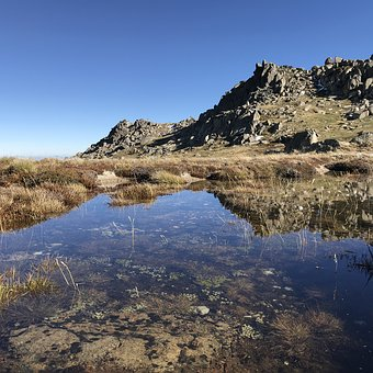 Kosciousko, National Park, Mirror, Sky, Water, Puddle