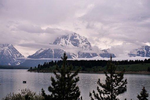 Dusk, Wyoming, Hiking, Tetons, Morning