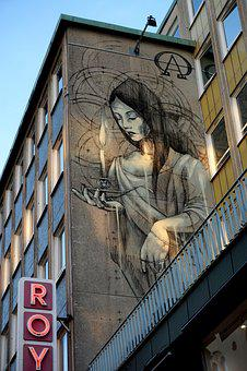 Malmö, Painting, Mural, Wall, Building, Graffiti