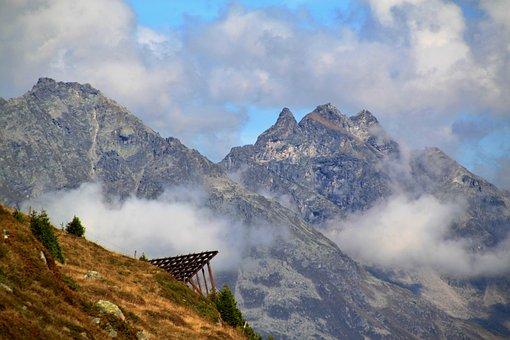 Davos, Parsenn, Mountains, Alpine, Landscape, Nature