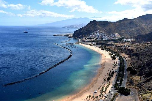 Beach, Tenerife, Outlook, Landscape
