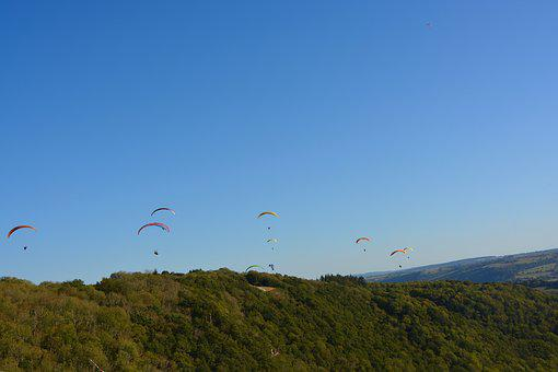 Paragliders, Take-off Site, Panoramic Views