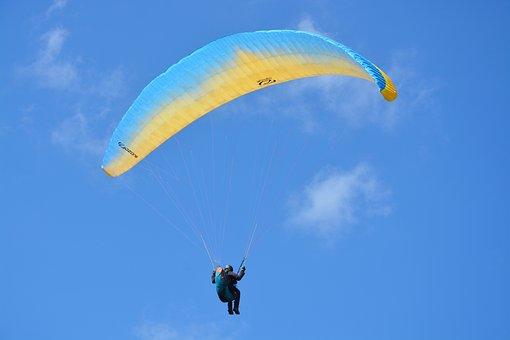 Paragliding, Paraglider, Free Flight, Aircraft, Wind