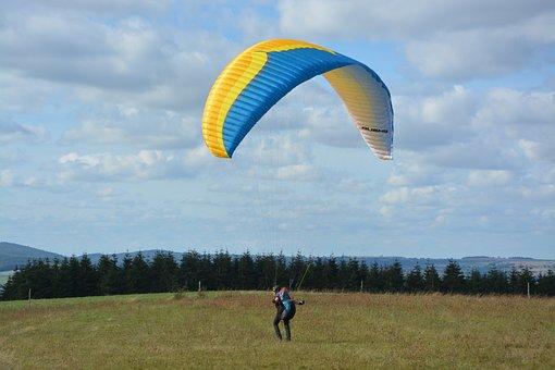 Paragliding, Paraglider, Atterisage