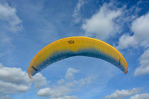 Paragliding, Wing Wing Wing Ozone Rush 5, Blue Orange