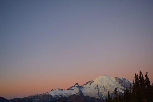 Mountain, Sunrise, Trees, Nature, Natural, Park