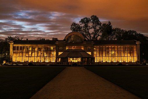 Architecture, City, Warsaw, Poland, Night, Park