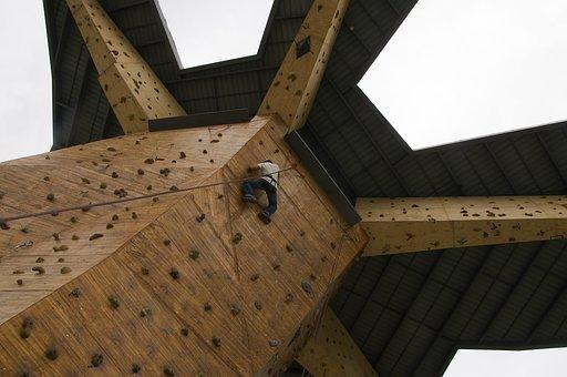 Climbing Wall, Rock Climbing, Climber, Sport, Rope