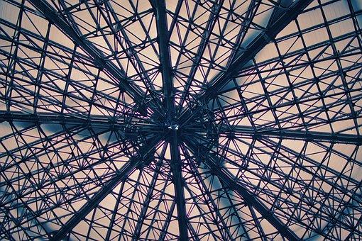 Roof Construction, Steel Struts, Modern, Steel