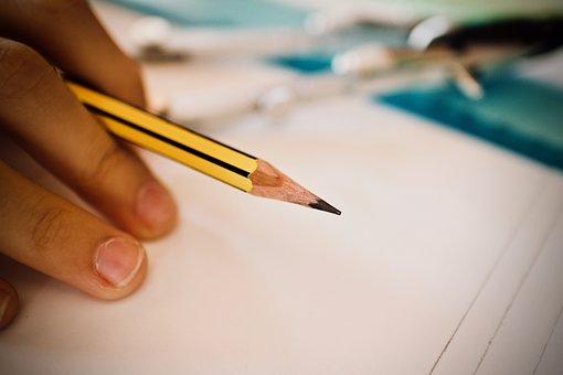 Pencil, Ruler, School, Creative, Drawing, Work, Desk