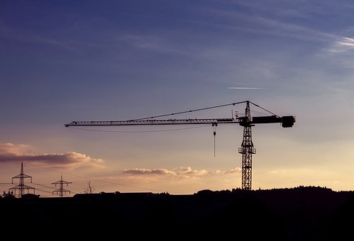 Baukran, Crane, Site, Load Crane, Technology, Build