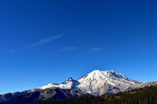 Mountain, Trees, Nature, Natural, Park, Mount Rainier