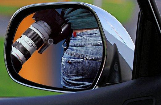 Mirror, Auto, Review, Woman, Camera, Jeans, Po
