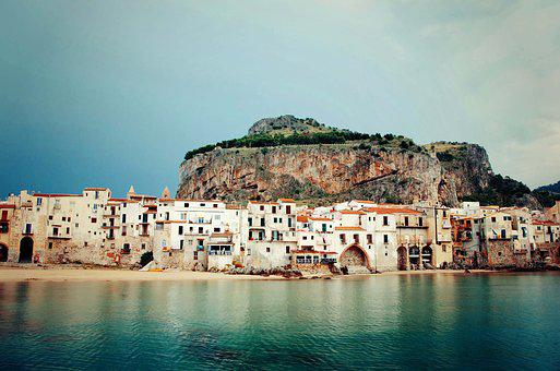 Cefalù, Sicily, Italy, Architecture, Beach, City, Coast