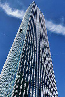 Skyscraper, Facade, Architecture, Modern, Sky, View