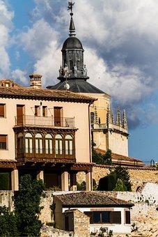 Spain, Segovia, Historic, Architecture, Buildings