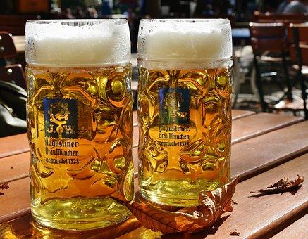 Beer, Measured Beer, Beer Mug, Barley Juice, Bavaria